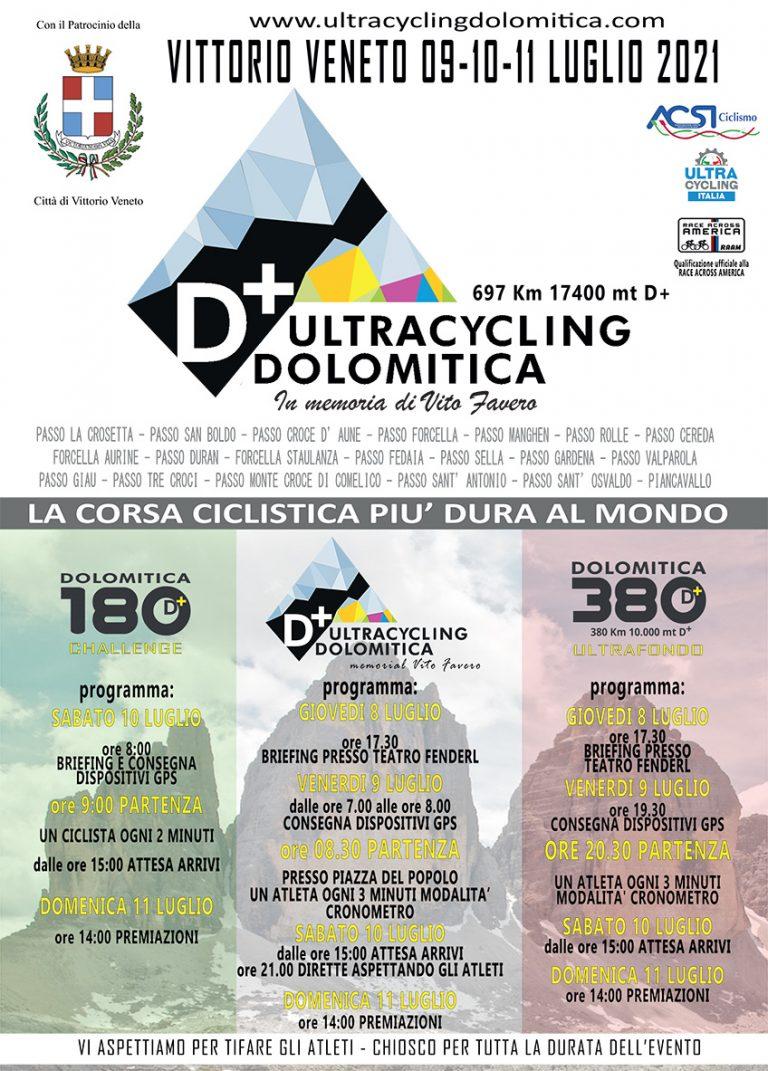 L'ultracycling Dolomitica parte da Vittorio Veneto